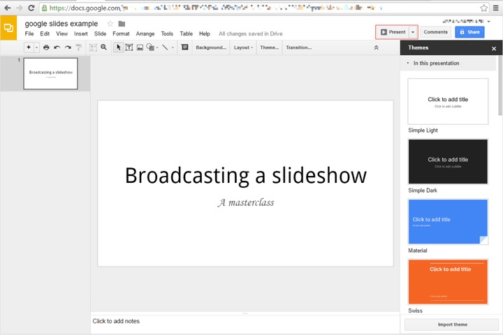 chromecast google slides 1