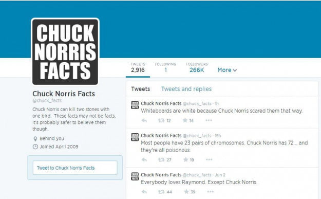 Chuck Norris Facts Account