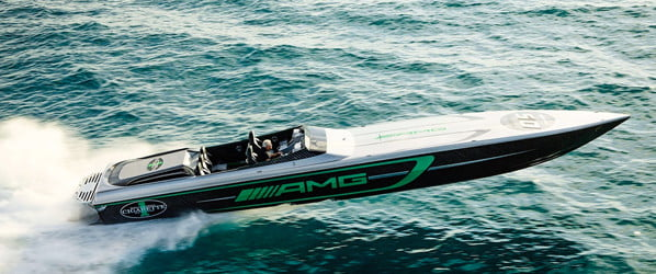 The 3,100 horsepower Marauder AMG racing boat makes supercars look like snails