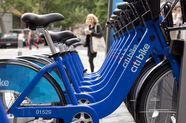 top  bikeable cities citibike row