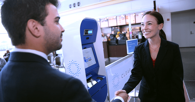 clear airport security biometrics