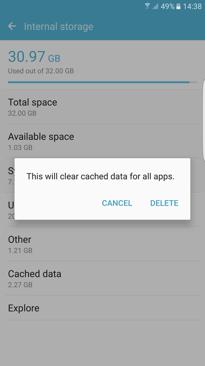 how to free up storage space on your android smartphone or tablet clear cached data