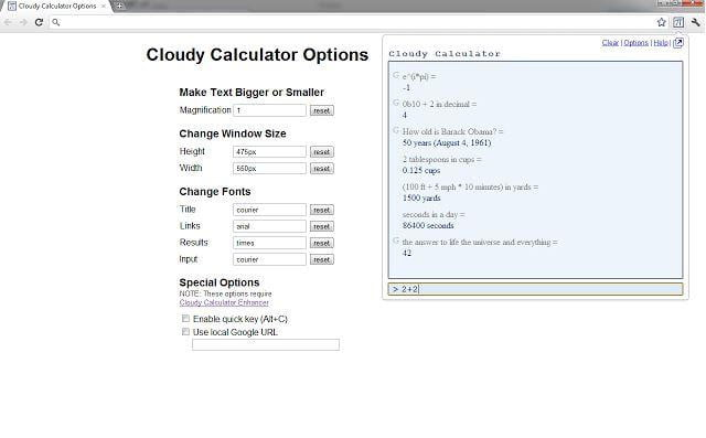Cloudy Calculator