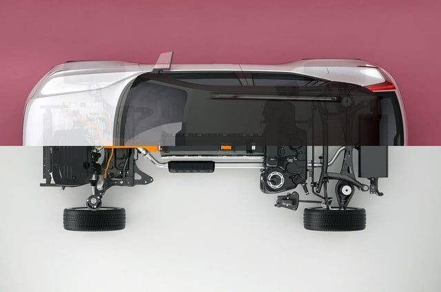 volvo t  hybrid replace diesel cma with twin engine powertrain top view