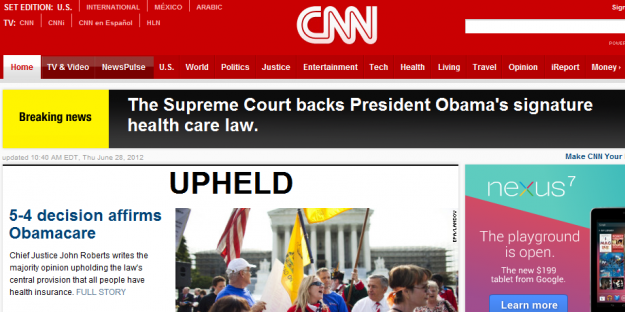 CNN Fail on Obama healthcare: the correction