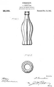 Coca Cola bottle design patent figure