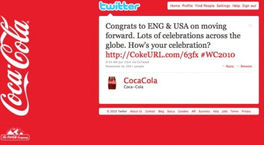 Coca-Cola promoted tweet