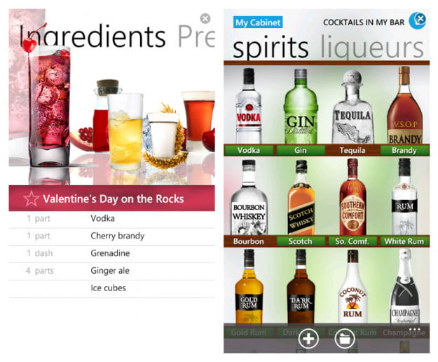 Cocktail-Flow-windows-phone-7-app