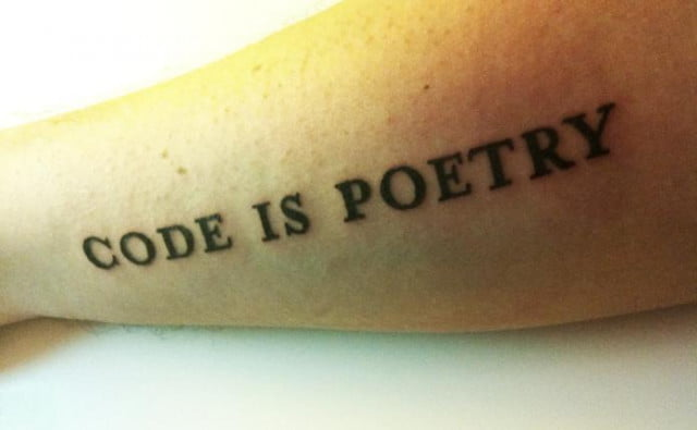 Code is Poetry Tattoo
