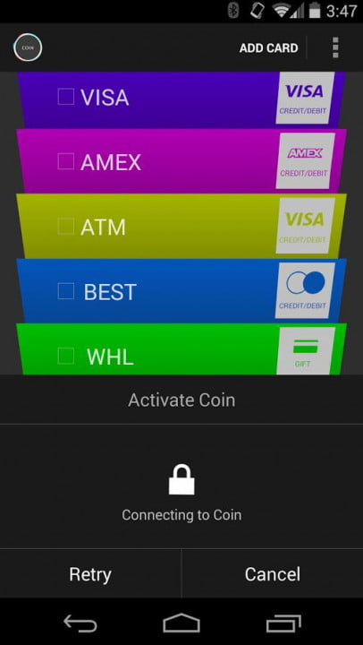 hands on with the coin credit card payment system android