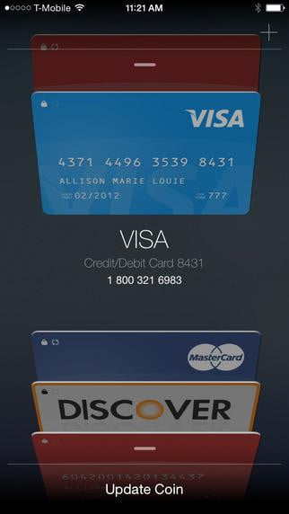hands on with the coin credit card payment system ios
