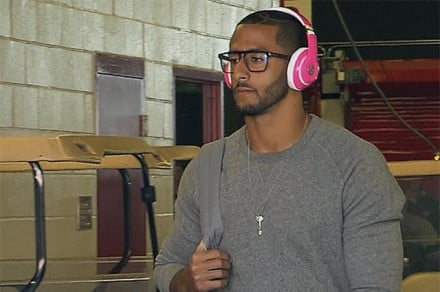 Colin-Kaepernick-fined-10K-for-pink-beats