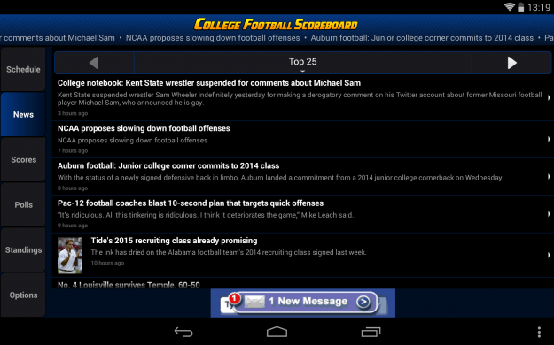 College_Football_Scorecard_Android_tablet_app_screenshot