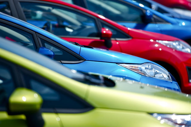 harris poll survey consumer automotive index beepi frustration colorful cars in a car lot