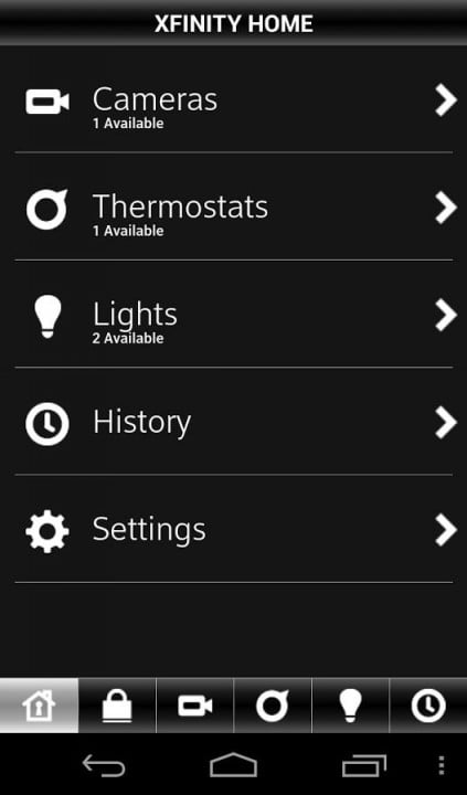 time warners intelligenthome comcast home control xfinity android app
