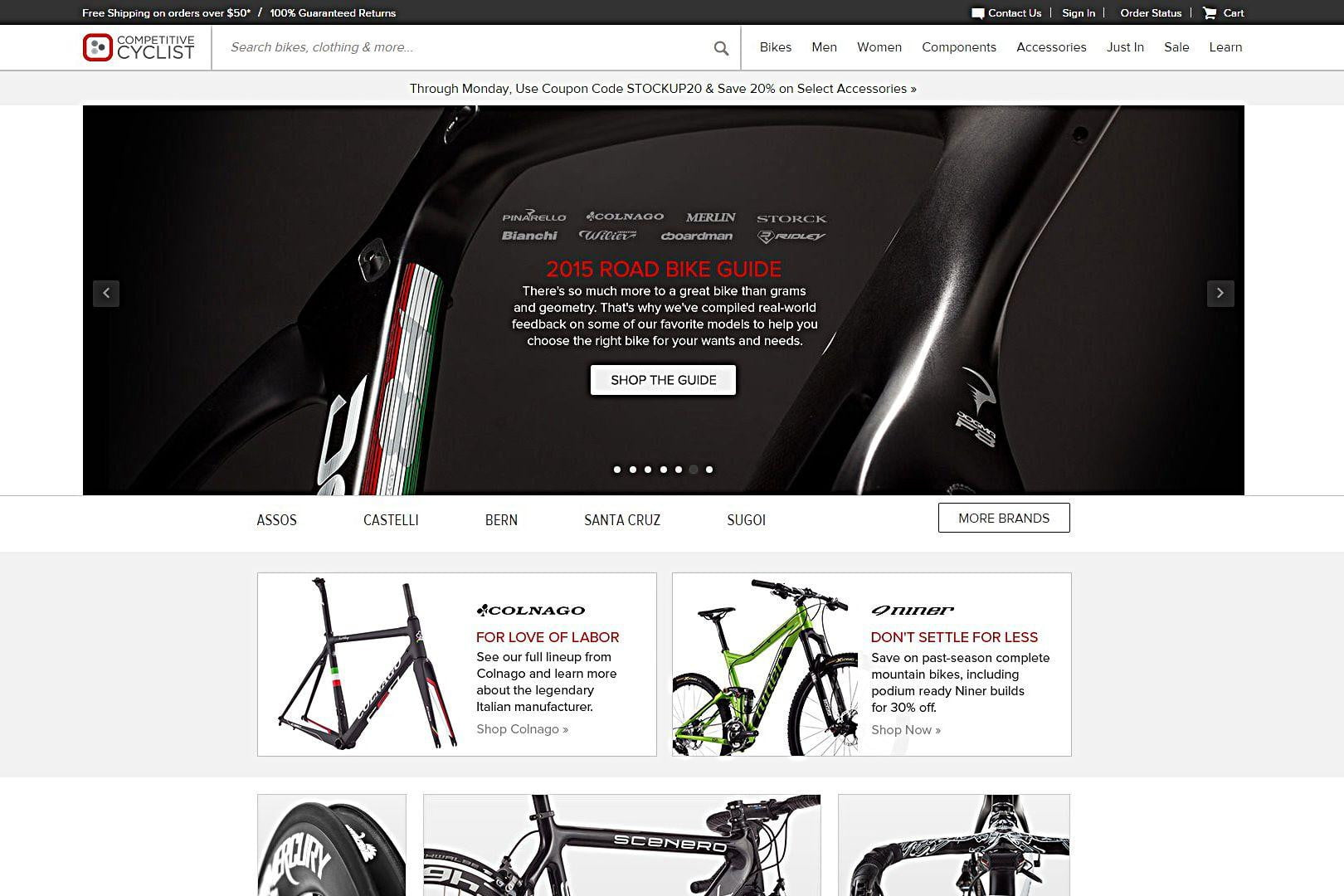 Competitive Cyclist buy bikes online