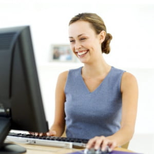 computer-woman-laughing-talking-to-friends-online