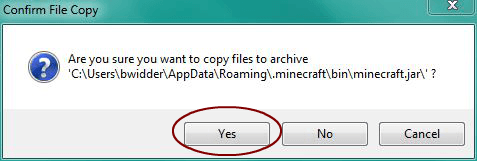 Confirm file copy