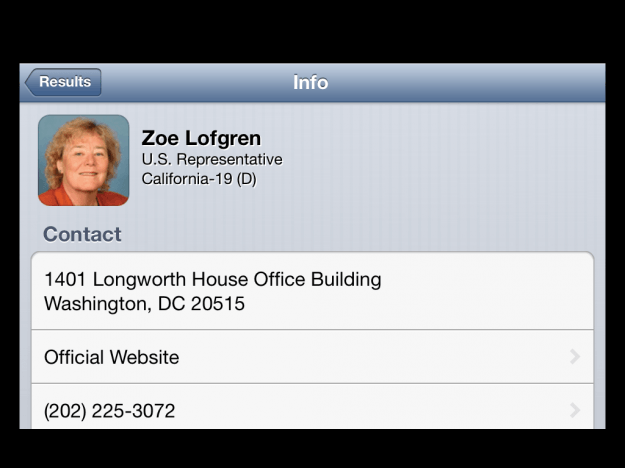 Congress app - profile