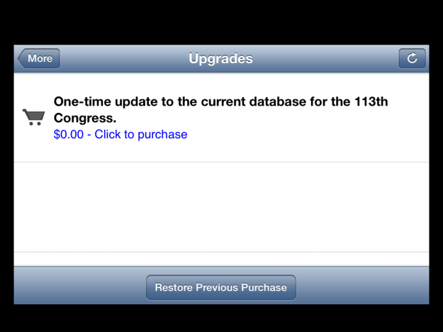 Congress app - upgrades