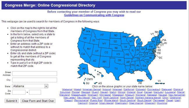 congress merge - map