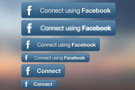 connect with facebook button