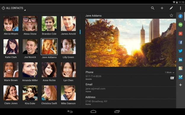 Contacts+_Android_tablet_app_screenshot