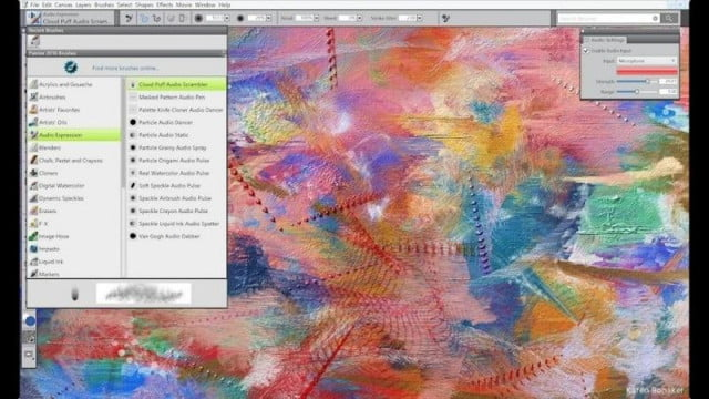 corel adds new brushes performance boost to painter  illustration software audio expression brush