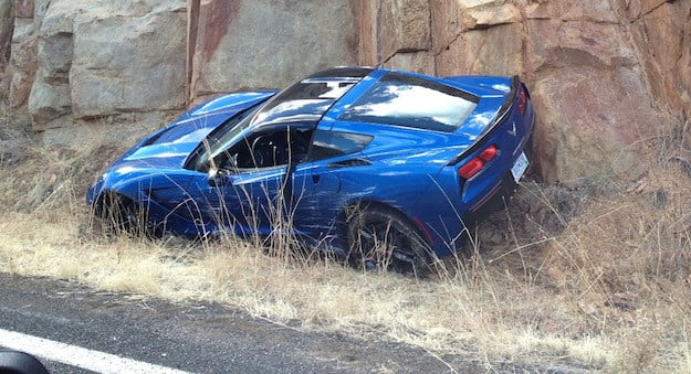 wrecked corvette stingray