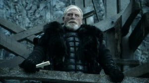 Cosmo as Lord Mormont