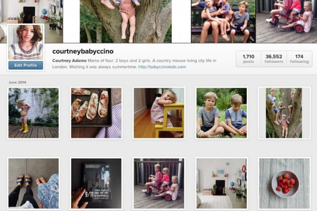 instagram turns mommy bloggers account posting innocent image child courtneyadamo feed screenshot