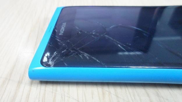 Cracked Nokia Lumia 900