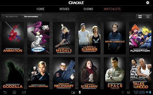 crackle screenshot android tablet streaming video google play