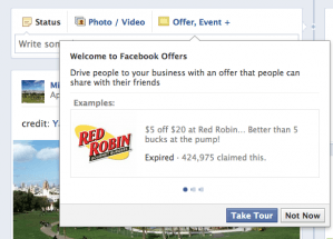 Facebook Offers (Create an Offer, Red Robin)