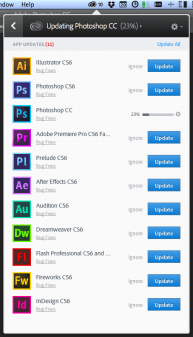 A glance at the Creative Cloud suite of apps.