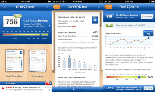 Credit Karma Mobile App Screens