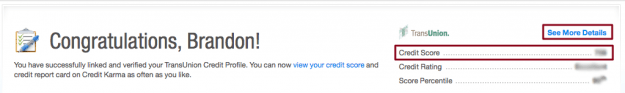 Credit Karma Score Screen