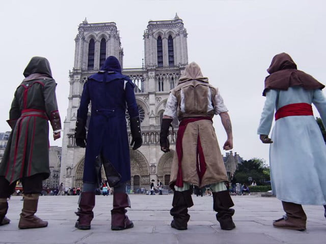 watch ubisofts new parkour powered promo assassins creed unity