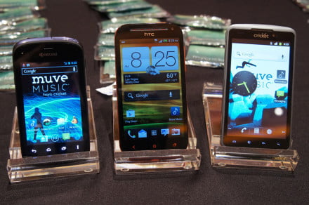 Cricket Wireless HTC One SV, Kyocera Hydro, and Alcatel One Touch