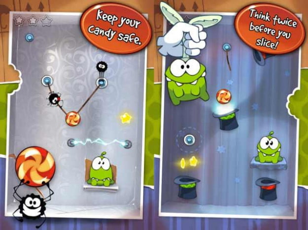 cut the rope screenshots ipod touch iphone ios game app