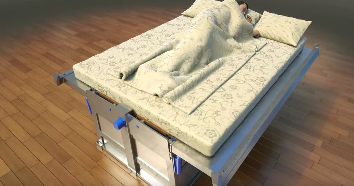 This Earthquake Proof Bed Drops You Out Of Harm S Way