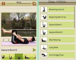 Daily Yoga screencap app