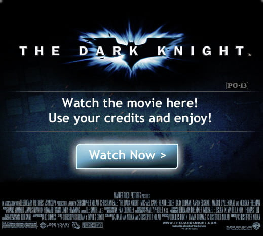 Facebook streaming 'The Dark Knight'
