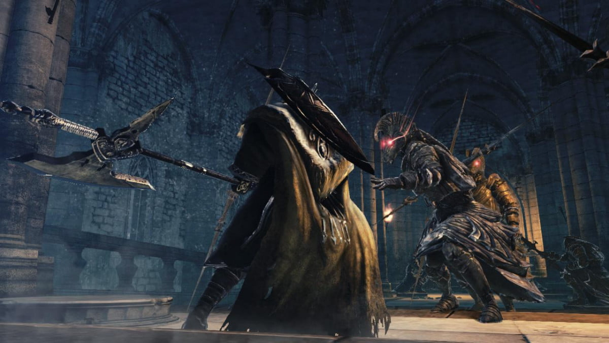 dark souls ii comes to ps  xbox on march with a big statue