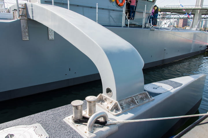 darpa officially christens the actuv in portland boat pontooncu