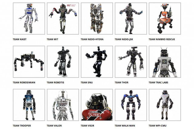disaster robots from around the world face off in robotics challenge final darpa