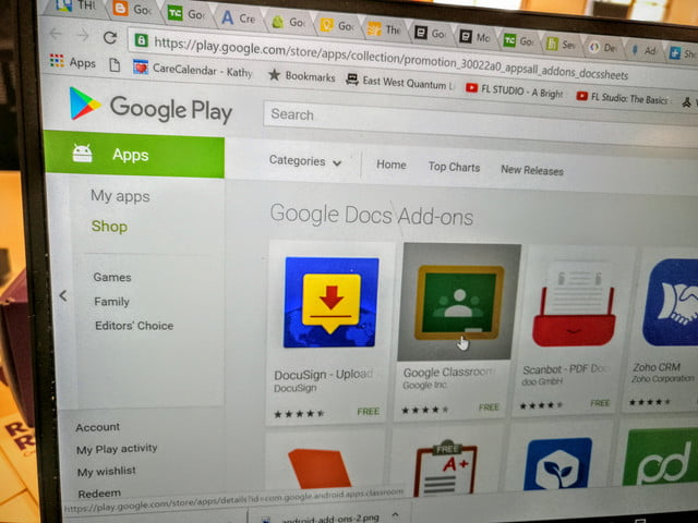 google docs add ons android dav