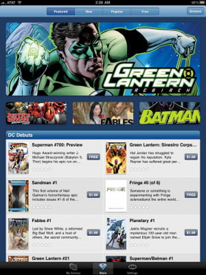 DC Comics iPad app