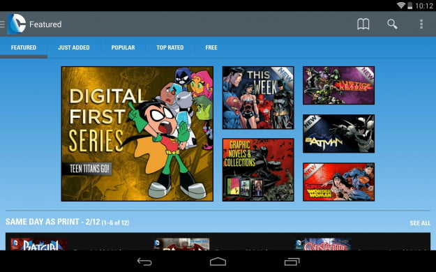 DC_Comics_Android_tablet_app_screenshot