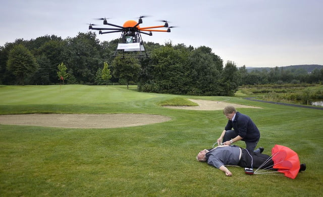 defikopter drone delivers defibrillators to save heart attack victims